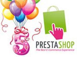 Joyeux anniversaire à Prestashop qui fête ses 5 ans